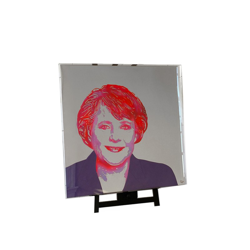 Happy Reflection Portrait Angela Merkel Carola Pavlik