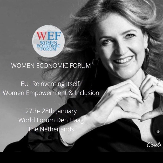 Carola Pavlik Speaking At Women Eonomic Forum The Hague