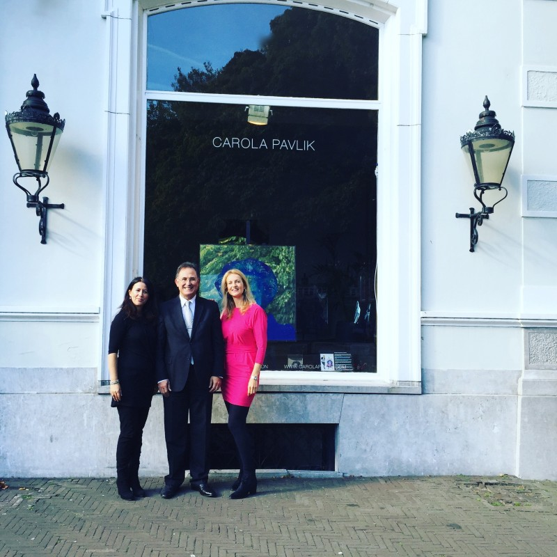 Moroccan Ambassador In The Hague, Visits Carola Pavlik's Gallery