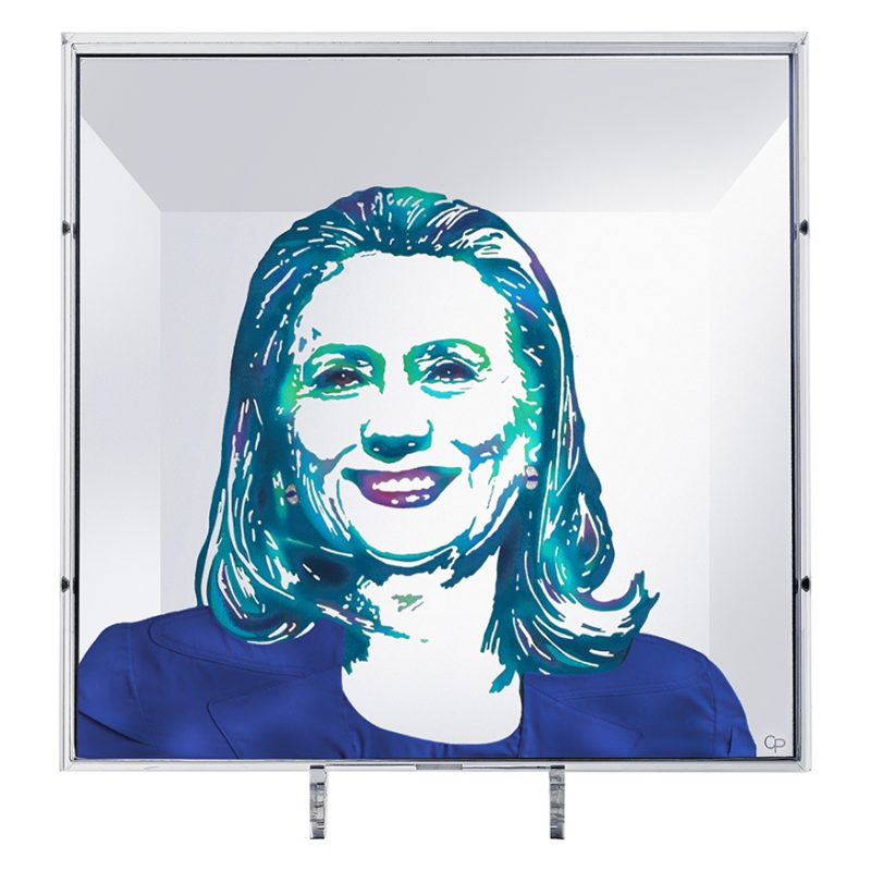 HAPPY REFLECTION PORTRAIT HILLARY CLINTON